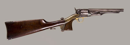 COLT MODEL 1860 ARMY REVOLVER WITH STOCK
